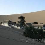 Dunhuang. Las cuevas de Mogao y las dunas de Mingsha .