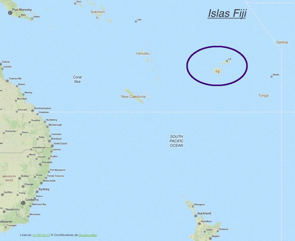 Islas Fiji Viti Levu Intentando Recorrer El Mundo