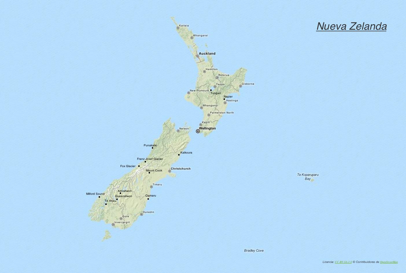 Itinerario de Nueva Zelanda y Fiji.