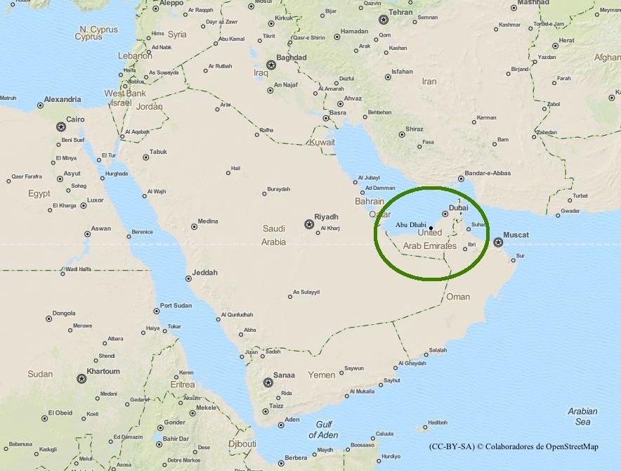 Emiratos Árabes Unidos.Itinerario.
