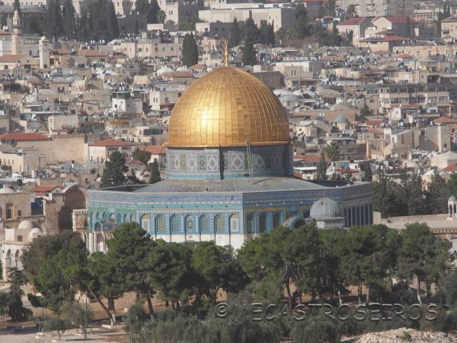 Jerusalén. Barrio musulmán y barrio judío.
