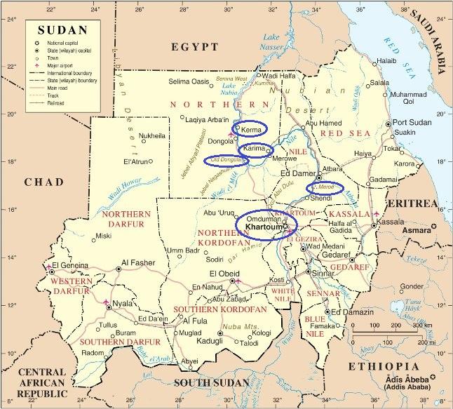 Sudán. Itinerario. (13 días).